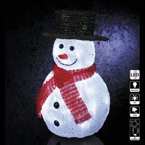 Décoration de Noël lumineuse d'extérieur - Bonhomme de neige FEERIE CHRISTMAS