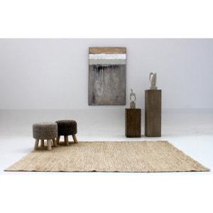 Tapis naturel camel en jute plat beige Pure VIVABITA