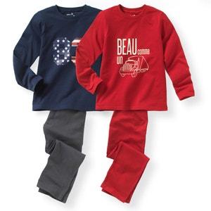 2er-Pack Pyjamas aus Baumwolle, 2-12 Jahre R édition