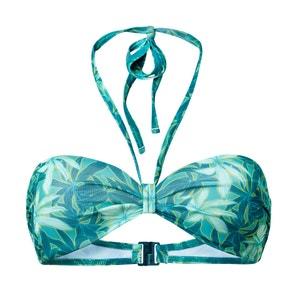 Haut de maillot de bain imprimé forme bandeau La Redoute Collections