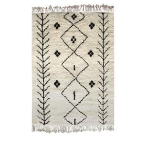 Tapis berbère laine beige et gris Carry Patta DRAWER