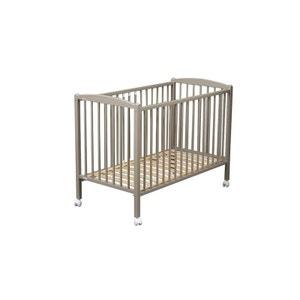 Lit de bébé Arthur 70 x 140 cm laqué gris clair COMBELLE COMBELLE