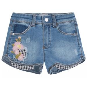Short en jeans brodé PRINCESSE ILOU