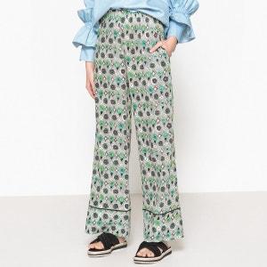 Pantalon large en soie taille élastique AVOCADO MOMONI