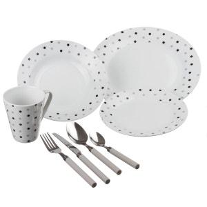Service de table 32 pièces Pois - Porcelaine SECRET DE GOURMET