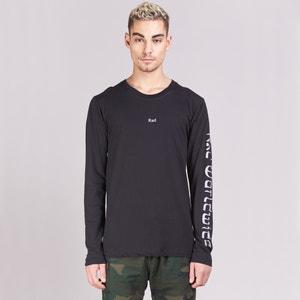 Camiseta de cuello redondo, manga larga con motivo RAD