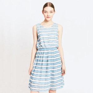 Krótka, rozszerzana sukienka w paski MIGLE+ME