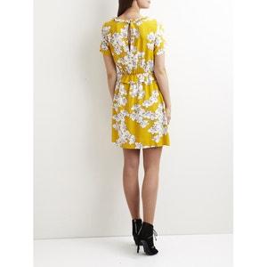 Floral Print Ruffled Style Dress VILA