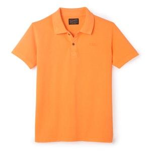 Polo avec logo brodé pur coton PETROL INDUSTRIES