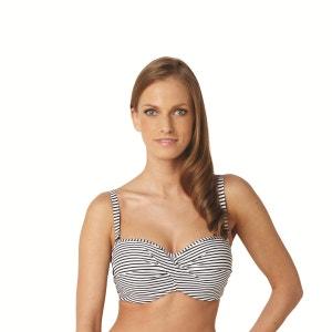 Anya Stripe Nautical Bandeau Bikini Top PANACHE BAIN