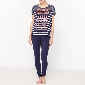 Pyjama in katoen met korte mouwen La Redoute Collections