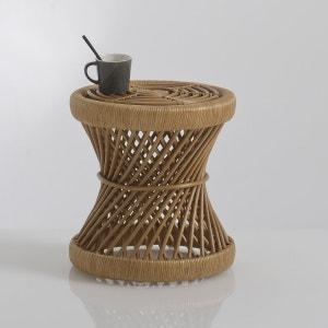 MALU Rattan Bedside Table/Mini Stool La Redoute Interieurs