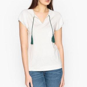 Tee shirt bimatière, lien à l'encolure IKKS