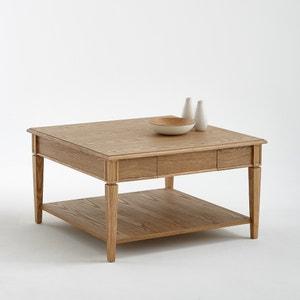 Vierkante salontafel, massief essenhout, Adelia La Redoute Interieurs