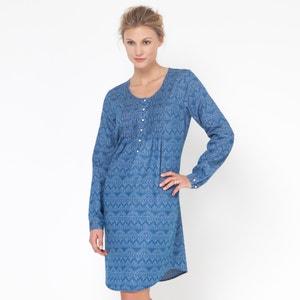 Bedrucktes Kleid, runder Ausschnitt ELLOS