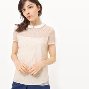 Camiseta de encaje, cuello con bisutería MADEMOISELLE R