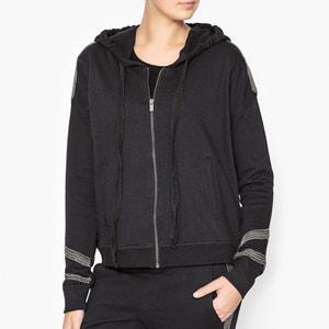 Sweater met rits, kap en glanzende details THE KOOPLES