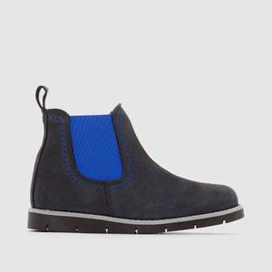 Boots in pelle, con elastici colorati R essentiel