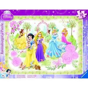 Puzzle cadre - 30 pièces - Princesses Disney : Les princesses au jardin RAVENSBURGER