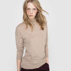 Jersey cuello alto de algodón y cachemir R essentiel