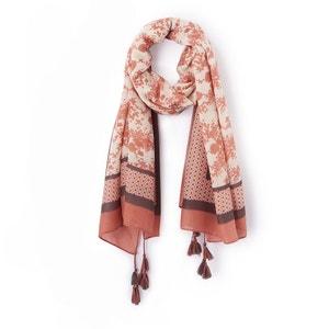 Bedrukte foulard met pompons La Redoute Collections