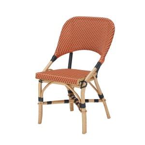 Chaise bistrot JERY - Chaise de bistrot rotin orange ROTIN DESIGN