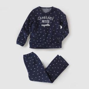 Printed Velour Pyjamas, 2-12 Years R essentiel