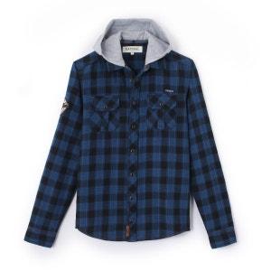 Chemise à carreaux et à capuche 10-16 ans KAPORAL