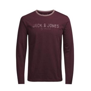 Camiseta lisa con cuello redondo, de manga larga JACK & JONES