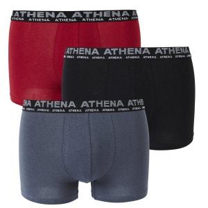Boxers Basic stretch (lot de 3) ATHENA