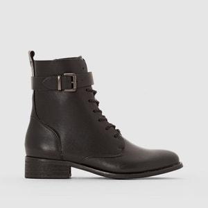 Boots in pelle con lacci R essentiel