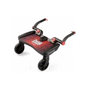 Planche à roulettes pour poussette Buggy Board Maxi Noir / Rouge LASCAL