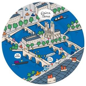 Assiette Paris : Notre Dame PETIT JOUR PARIS