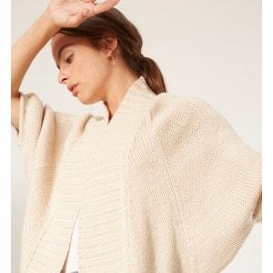Gilet manches chauve-souris grosse maille laine RODIER