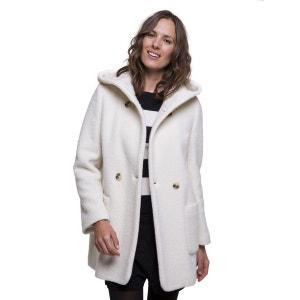 Manteau à capuche en laine bouclée TRENCH AND COAT