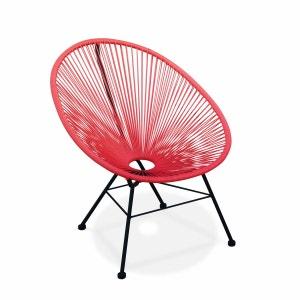 Fauteuil Acapulco chaise oeuf design rétro cordage Corail ALICE S GARDEN
