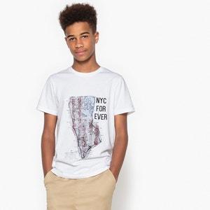 T-shirt com motivo à frente, 10-16 anos La Redoute Collections
