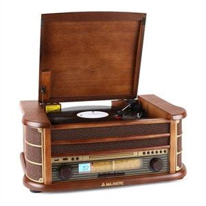 Audiola TT34 Chaîne stéréo rétro vinyle CD USB MP3 MAJESTIC
