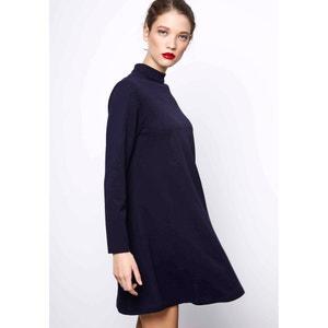 Wijduitlopende korte jurk met lange mouwen COMPANIA FANTASTICA