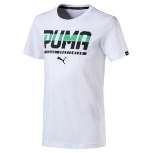 T-shirt de gola redonda, mangas curtas, 6-16 anos PUMA