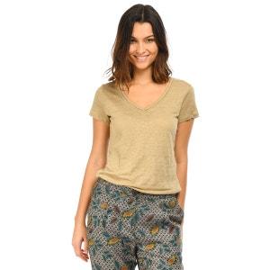 Tee-shirt lin col V MKT STUDIO