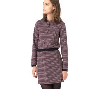 Kleid mit Jacquard-Motiv und Polokragen MINI PREISE