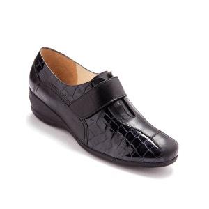 Chaussures derbies à patte auto-agrippante largeur confort PEDICONFORT