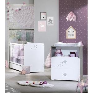 chambre b b lit matelas armoire commode langer en solde la redoute. Black Bedroom Furniture Sets. Home Design Ideas