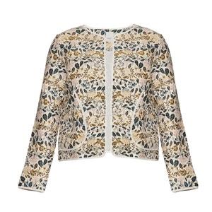 ANELLI JA Floral Print Cropped Jacket ICHI