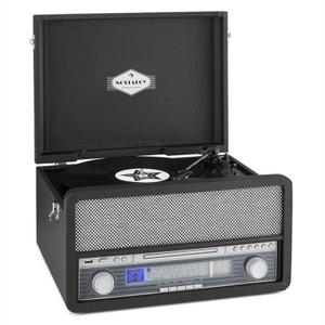 auna Belle Epoque 1907 Tourne-disque rétro & lecteur de cassette BT MC USB CD AU AUNA