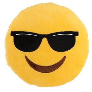 Peluche Coussin Emoji Lunette de soleil PUCK