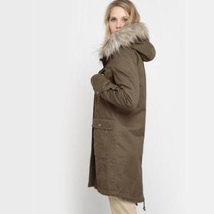 Long Parka with Detachable Faux Fur Lining R studio