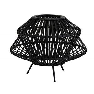 Abat-jour pour lampe de table bambou tressé noir Madam Stoltz MADAM STOLTZ