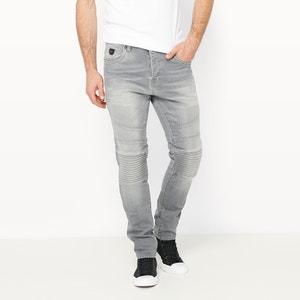 Laron Slim-Fit Biker Jeans (34